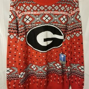 NWT University Of Georgia Ugly Xmas Sweater XXL
